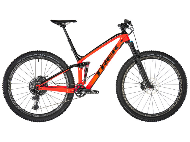 Trek Fuel EX 9.8 radioactive orange/trek black